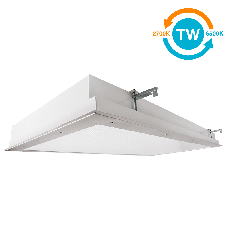 The Kurtzon KL-FG-TR-LED-TW is a Tunable White 2x4 LED Fixture with Top and Bottom Access suitable for Cleanspaces and Wet Locations.