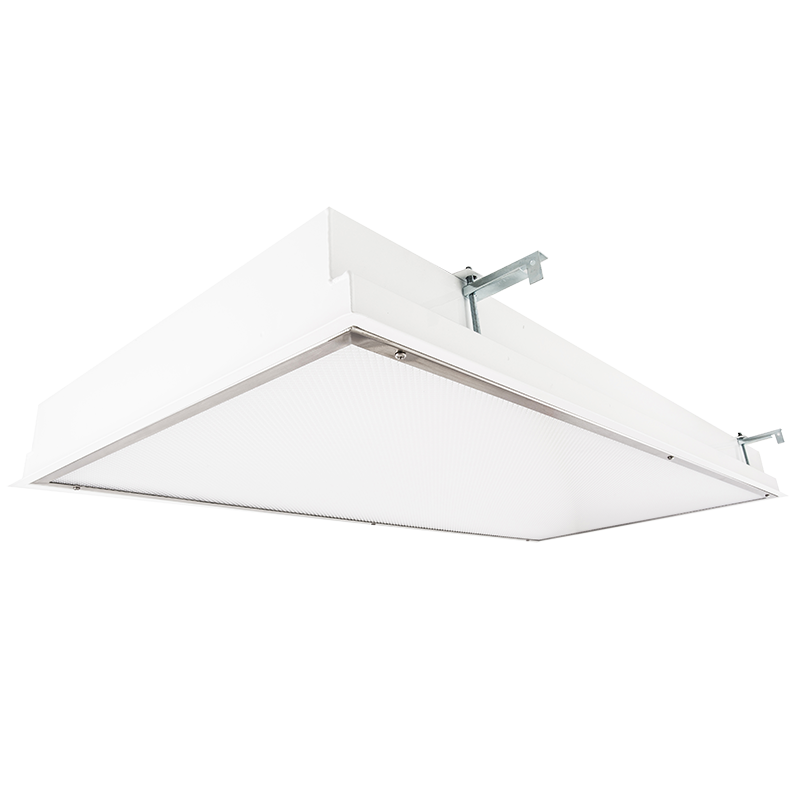 The Kurtzon EL-FGS-FLUOR is a Recessed 1×4, 2×2 or 2×4 Fluorescent Luminaire that is suitable for Wet and Cleanspace Locations.