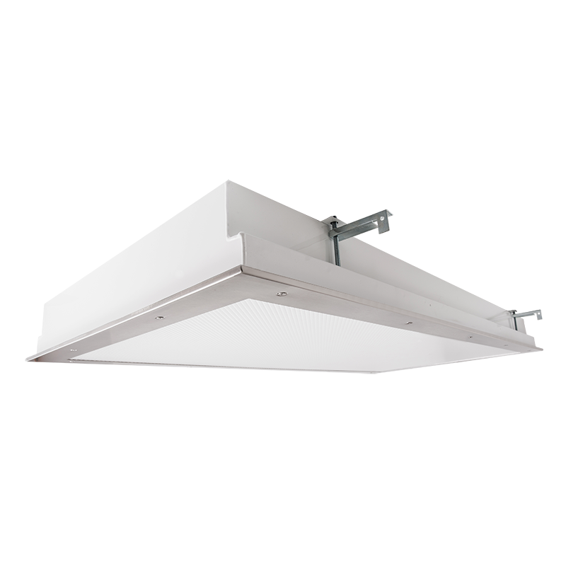 The Kurtzon FP-FGS-FLUOR is a 1x4, 2x2 and 2x4 Fluorescent Fixture that can be Recessed or Surface Mounted. It is NSF listed for food, splash and non-food areas, and is suitable for Wet Locations.