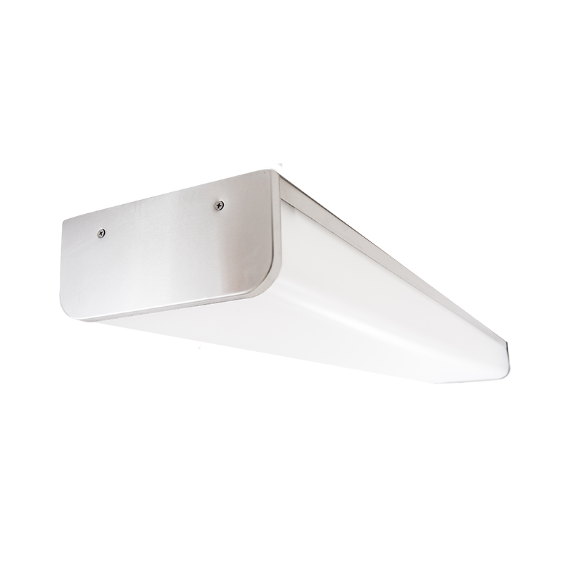 The Kurtzon FP-VEGA-D-FLUOR is a Sealed 4' Linear Fluorescent Surface Wrap. It is NSF2 listed for food, splash and non-food areas, is suitable for Wet Locations, and has several mounting options.