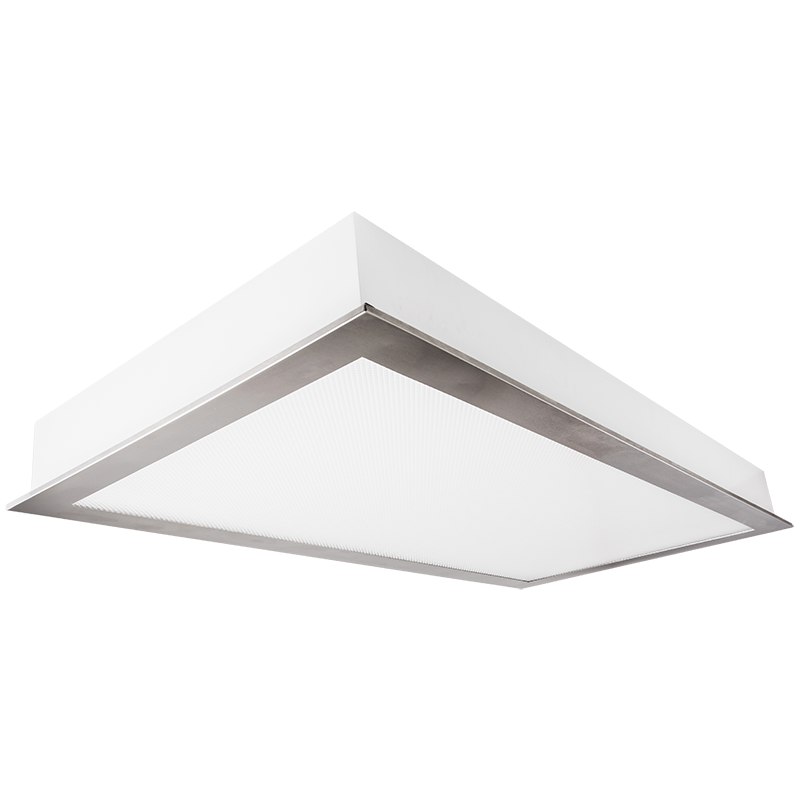 The KURTZON™ KL-FGS-EZ-LED is a 1x4, 2x2 and 2x4 LED Recessed Fixture With Screwless Door Frame Suitable for Cleanspaces and Wet Locations.