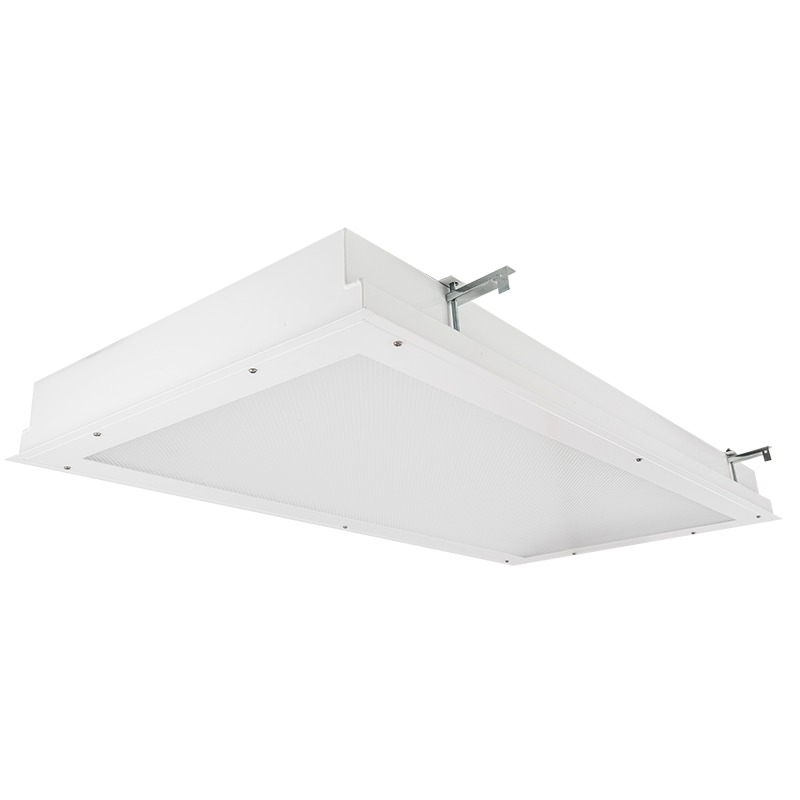 The Kurtzon MLO-FG-FLUOR is a 1x4, 2x2 and 2x4 Surface & Recessed Fluorescent Fixture with RF Filtering For use in Operating and Exam Rooms .