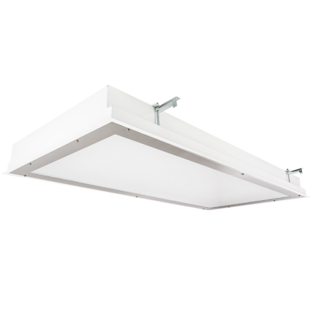 The KURTZON™ TL-FGS-FLUOR is a 1x4, 2x2 and 2x4 Fluorescent Recessed Fixture suitable for Cleanspaces and Wet Locations.