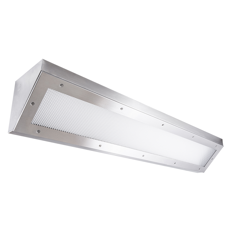 The Kurtzon VL-COR-FLUOR is a Vandal Resistant High Abuse Linear Corner Mount Fluorescent Fixture suitable for Wet Locations