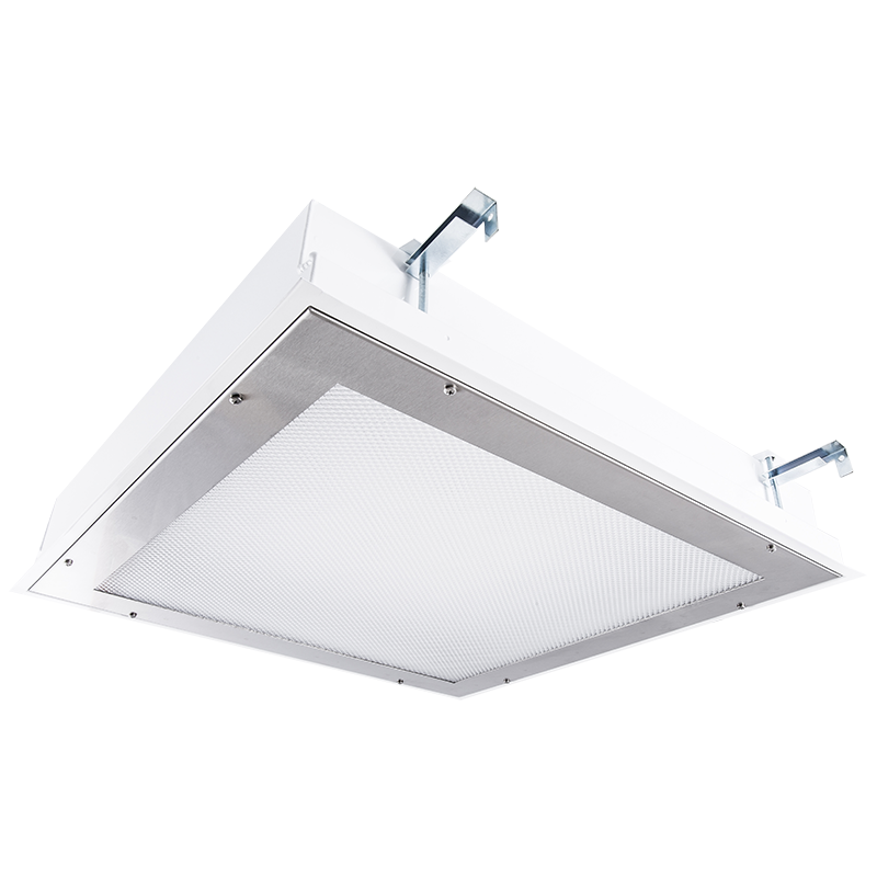 The KURTZON™ VL-FGS-FLUOR is a Vandal Resistant High Abuse 1x4, 2x2 and 2x4 recessed or surface mounted Fluorescent Fixture suitable for Wet Locations.