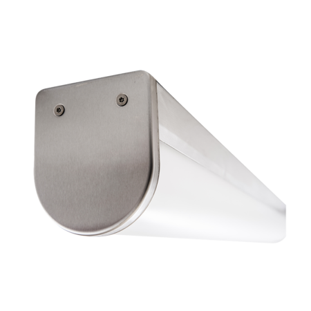 The KURTZON™ VL-VEGA-A-FLUOR is a Vandal Resistant Sealed Surface 4' Fluorescent Wrap Fixture that can be continuous row mounted and is suitable for Wet Locations.