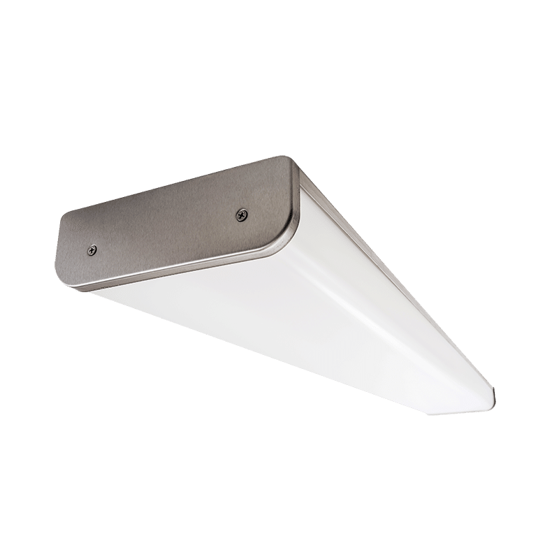 The Kurtzon VL-VEGA-C-LED is a Vandal Resistant Sealed Surface 4' LED Wrap Fixture with Several mounting options suitable for Wet Locations.