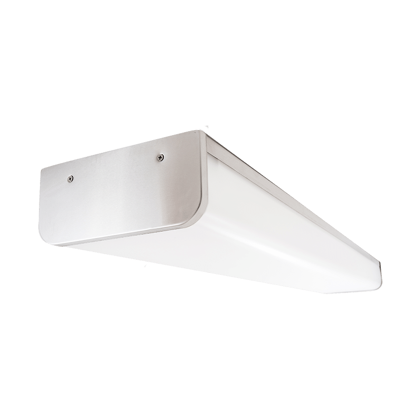 The Kurtzon VL-VEGA-D-LED is a Vandal Resistant Sealed Surface 4' LED Wrap Fixture with Several mounting options suitable for Wet Locations.