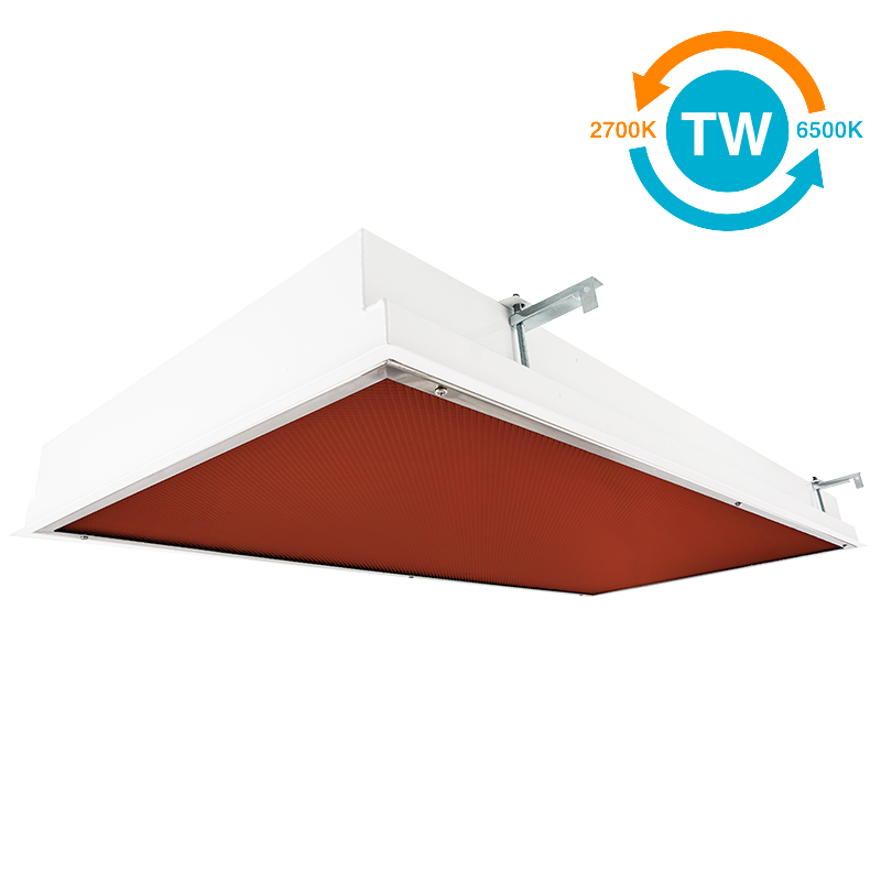 The KURTZON™ EL-FGRS-LED-VIVARIUM-TW is a Recessed Tunable White 1×4, 2×2 or 2×4 Red/White LED Luminaire that is suitable for Wet or Cleanspace Locations.
