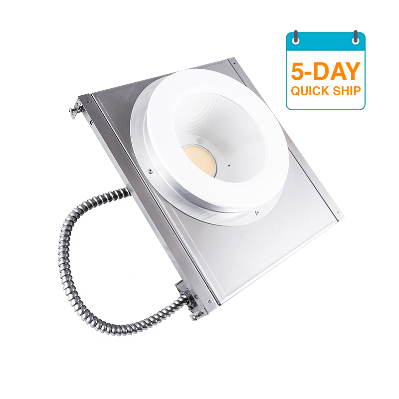 "The Kurtzon KL-SBD-LED-5DQS is a Sealed 6"" Aperture Recessed LED Downlight for Cleanroom Installations and Wet Locations."