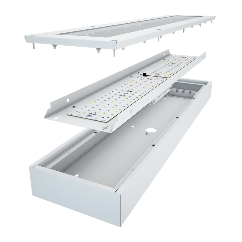 The Kurtzon MX-R MX-S LED is a 1x4, 2x2 and 2x4 LED Fixture for Medium/Maximum Security Applications designed to be tamper-resistant.