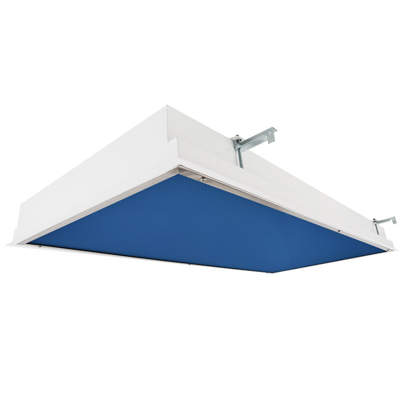 The KURTZON™ EL-FGRS-LED-BLUE 1×4, 2×2 or 2×4 Recessed Blue/White LED Wet and Cleanspace Location Luminaire.