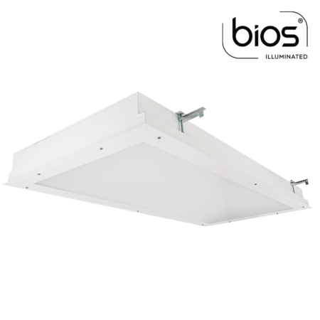The KURTZON™ MLO-FGR-LED-BIOS is a 1x4, 2x2 and 2x4 Surface & Recessed High Lumen BIOS® LED Fixture with RF Filtering For use in Operating and Exam Rooms.