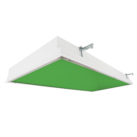 The KURTZON™ EL-FGRS-LED-GREEN 1×4, 2×2 or 2×4 Recessed Green/White LED Wet and Cleanspace luminaire.