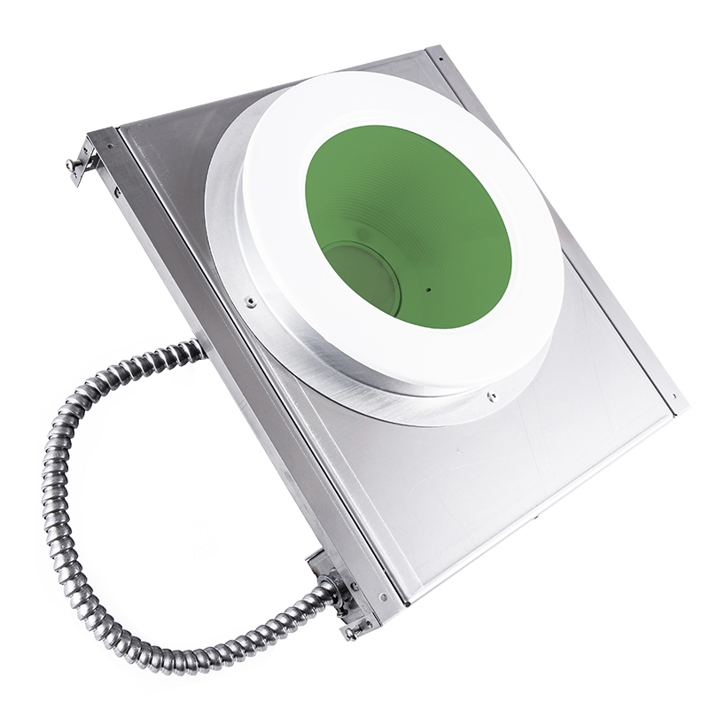 "The KURTZON™ ML-SBD-LED-GREEN is a Sealed Recessed Green/White LED Downlight with 6"" Aperture and RF Filtering suitable for conducted and radiated emissions areas and Wet Locations."